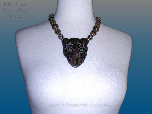 Lee Sands Cat Necklace Shown on Bust Form