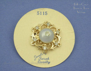 Sarah Coventry Pin on Original Card Moonglow