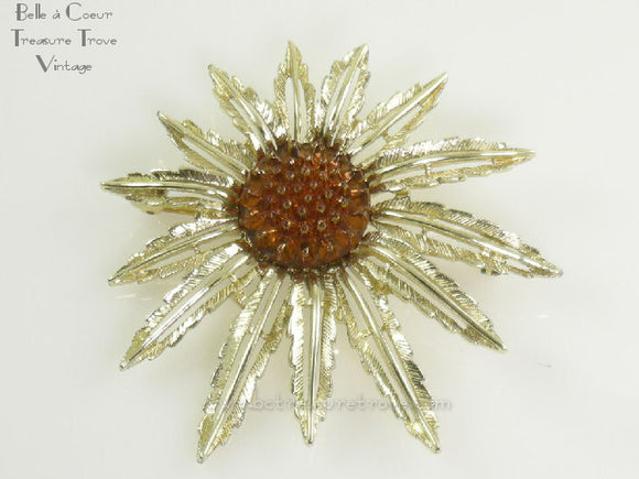 Sarah Coventry Starburst Brooch