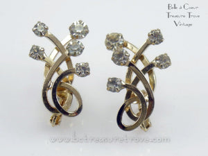 "Vintage Emmons Earrings 1960s ""Sovereignty"""