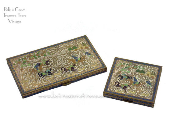 Volupte Persian Horsemen Vintage Compact & Cigarette Cases