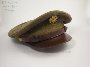 World War II Olive Drab Enlisted Service Cap