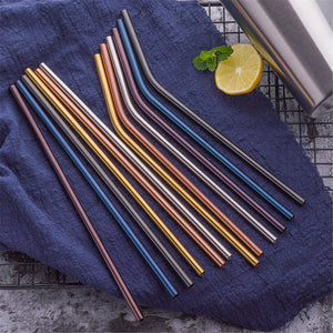 Colorful Stainless Steel Straw (1, your choice of color and style): Prices vary slightly among styles