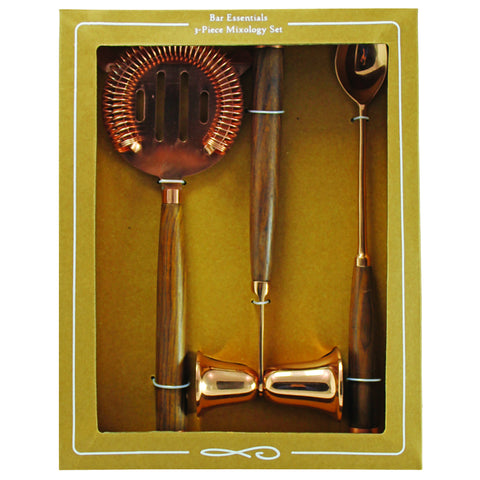 Be Home 3-Piece Mixology Set in Copper