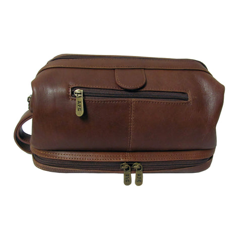 Deluxe Leather Travel Bag - Chestnut Brown
