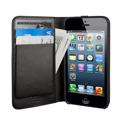 Hex Axis Wallet Case for iPhone 5 - Black