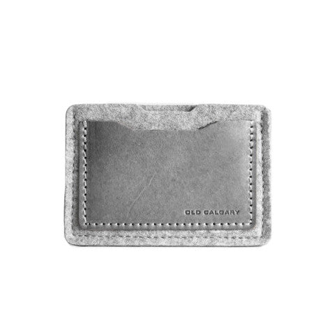 Old Calgary Alpha Card Wallet - Concrete