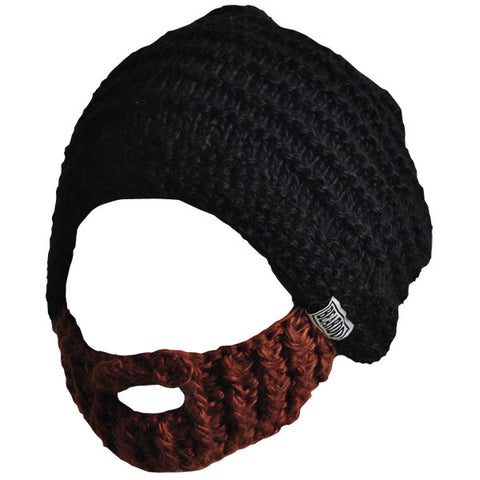 Beard Hat - Black & Brown Beard