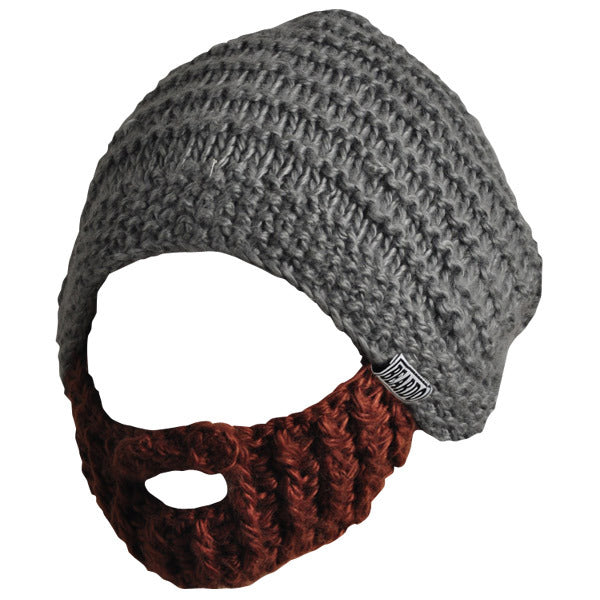 Beard Hat - Grey & Brown Beard