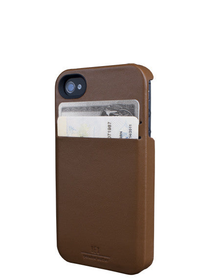 Hex Solo Wallet Case for iPhone 4/4s - British Tan