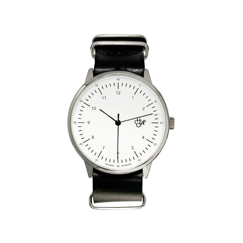 Cheapo Watch Harold Black White Silver