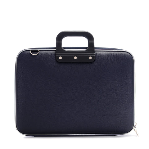 Bombata Classic Laptop Briefcase - Navy