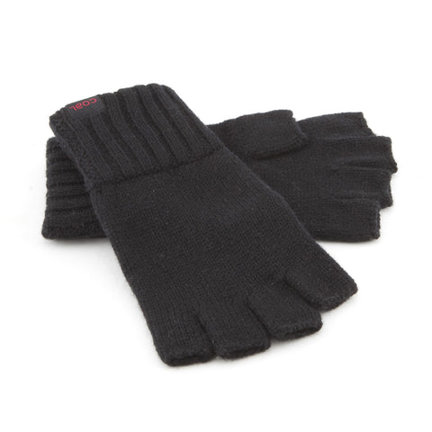 The Harwood Fingerless Glove - Black