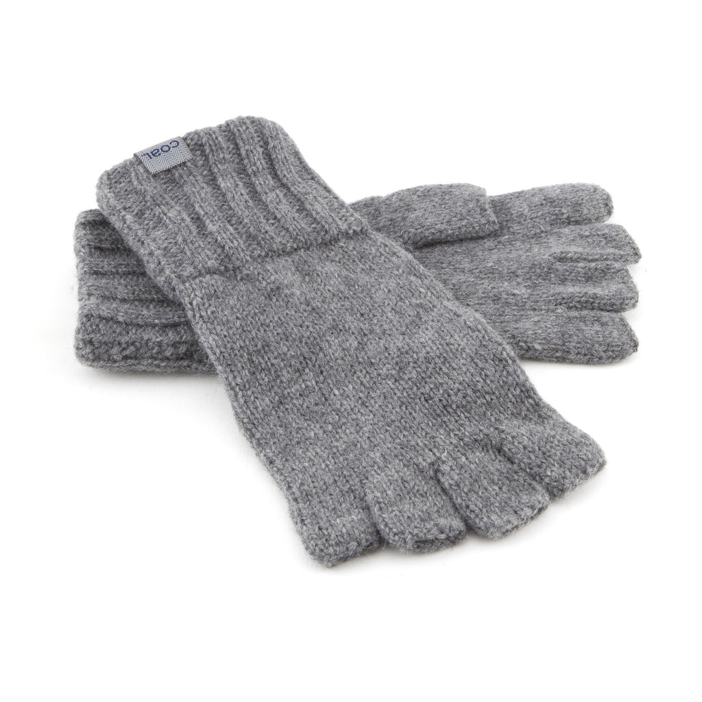 The Harwood Fingerless Glove - Heather Grey