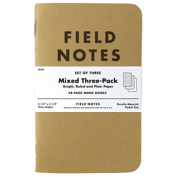 Field Notes Original 3-Pack - Mixed Paper