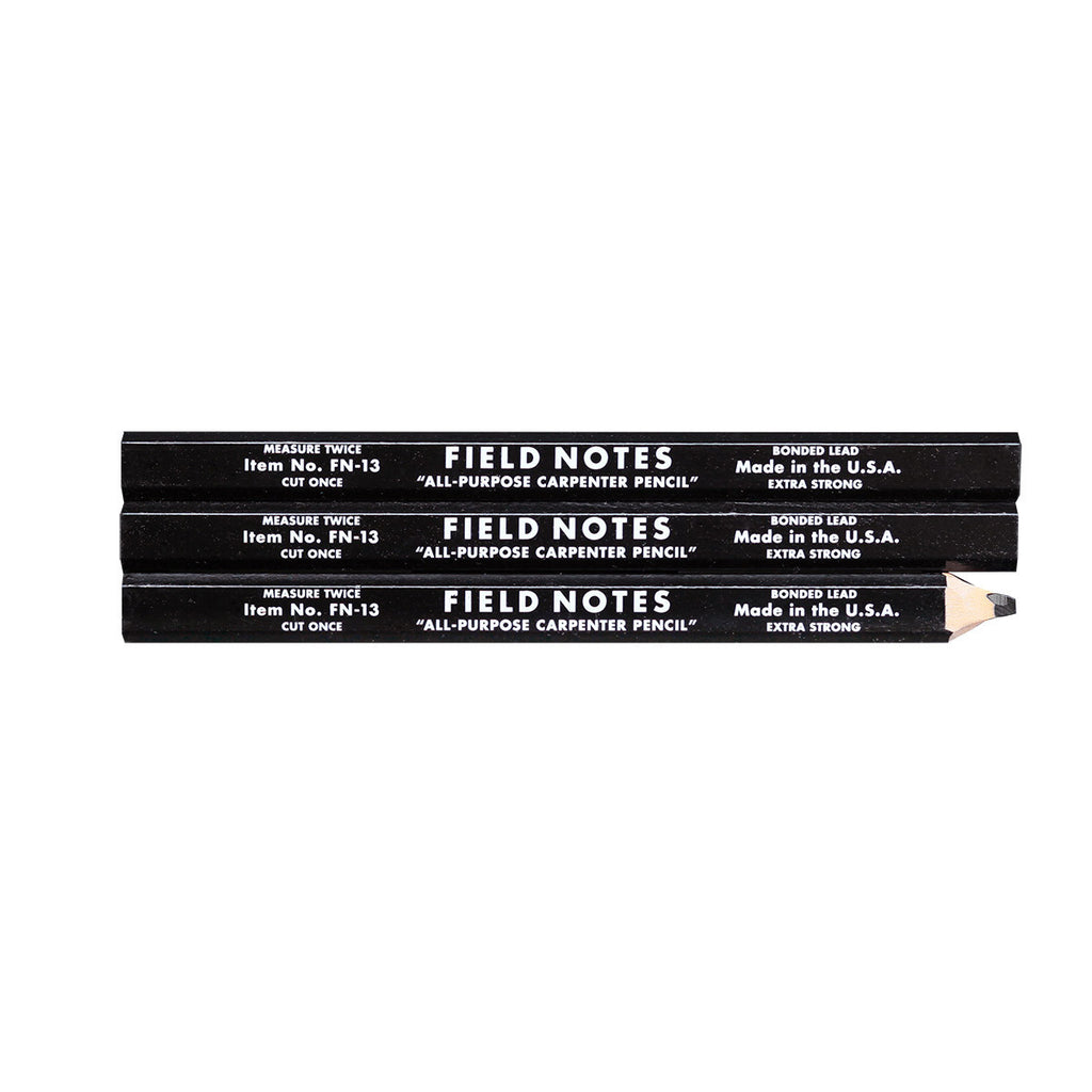 Field Notes Carpenters Pencils-- 3-pack
