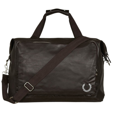 Fred Perry Deconstructed Holdall Bag - Dark Chocolate