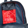 Herschel Packable Backpack - Navy & Red