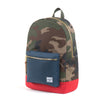 Herschel Supply Settlement Backpack - Camo/Navy/Red