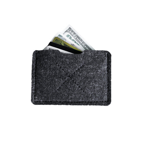 Old Calgary Organic Wool Heritage Card Sleeve Wallet - Graphite