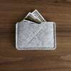 Old Calgary Organic Wool Heritage Card Sleeve Wallet - Concrete