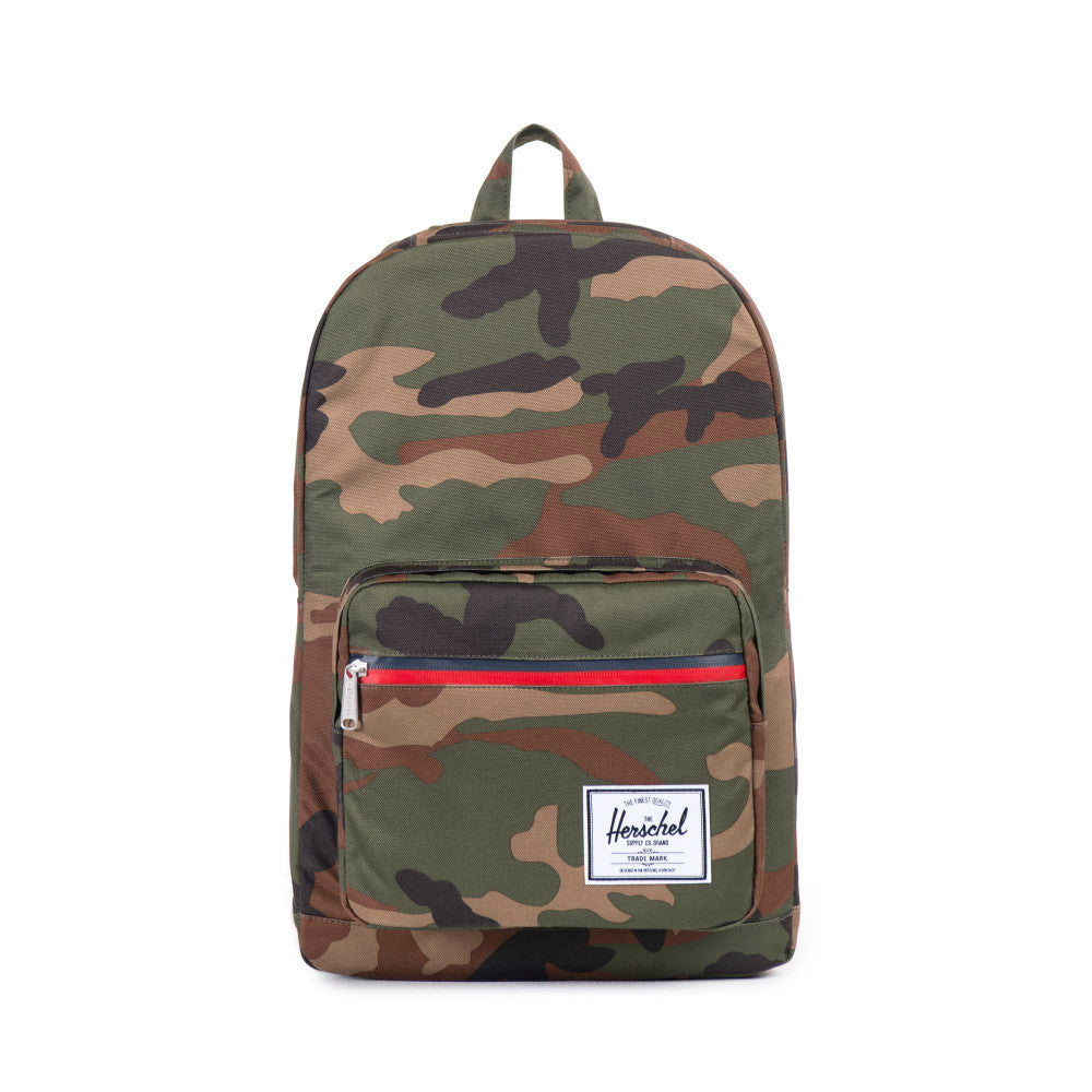 Herschel Supply Pop Quiz Backpack Woodland Camo Zipper