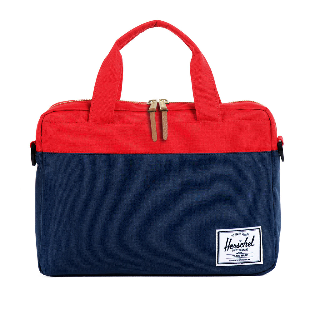 Herschel Supply Hudson Briefcase - Navy & Red