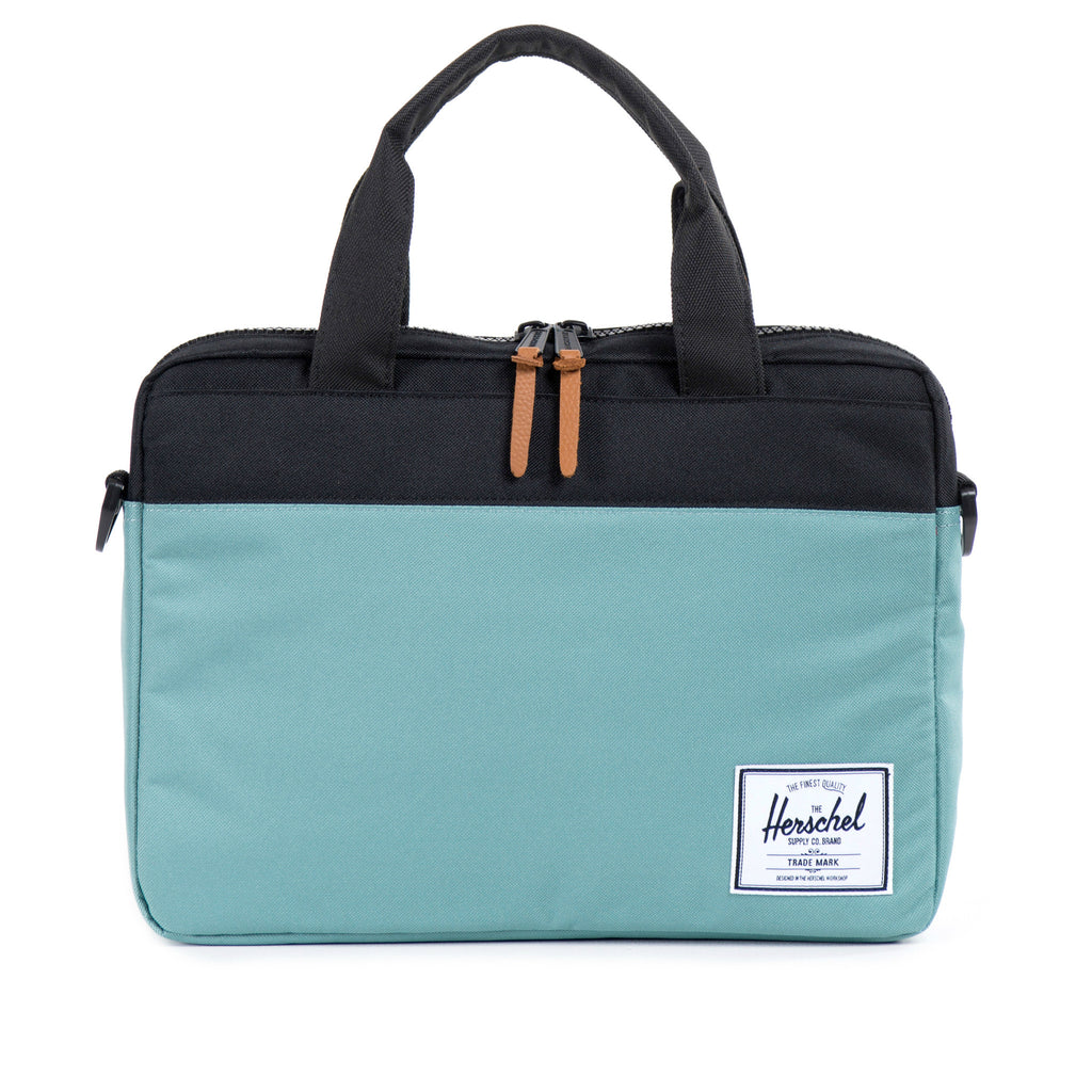 Herschel Supply Hudson Briefcase - Seafoam & Black