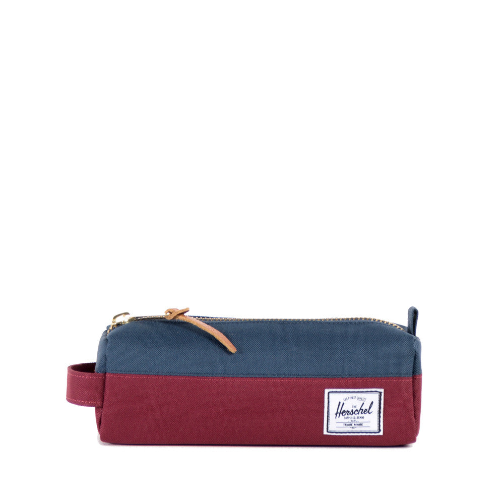 Herschel Supply Settlement Pencil Case - Wine & Navy