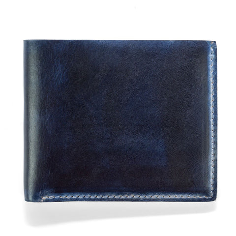J. Fold Hand Stained Billfold Wallet - Navy