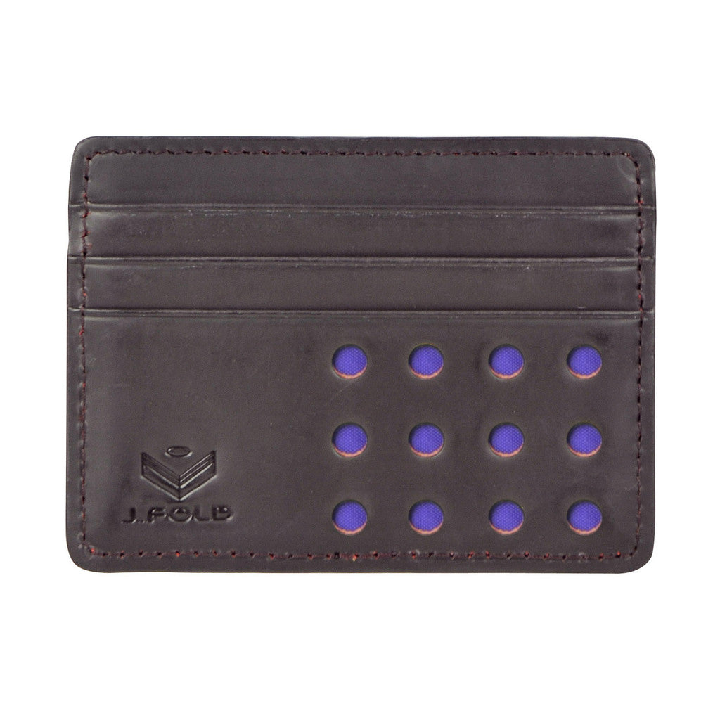 V-Twelve Flat Carrier Wallet - Purple