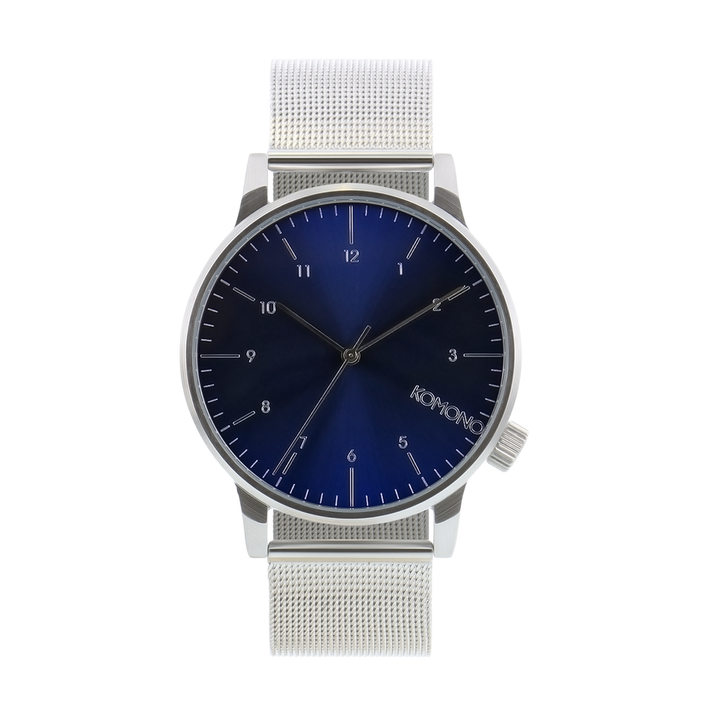 Komono Winston Royale Watch Silver & Blue