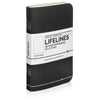 Lifelines Dotted Grid Notebooks | Black, Set of 3