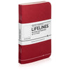 Lifelines Dotted Grid Notebooks | Red, Set of 3