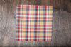 Blade + Blue Sam Plaid Pocket Square - Gold, Blue, & Red