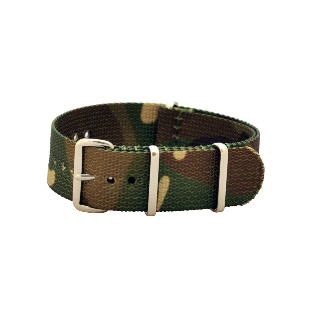 Military Watch Co. - Woodland Camo Interchangeable NATO Watch Strap