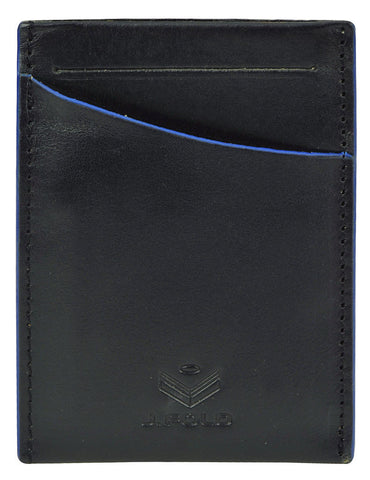 Clearcut Front Pocket Wallet - Black & Blue