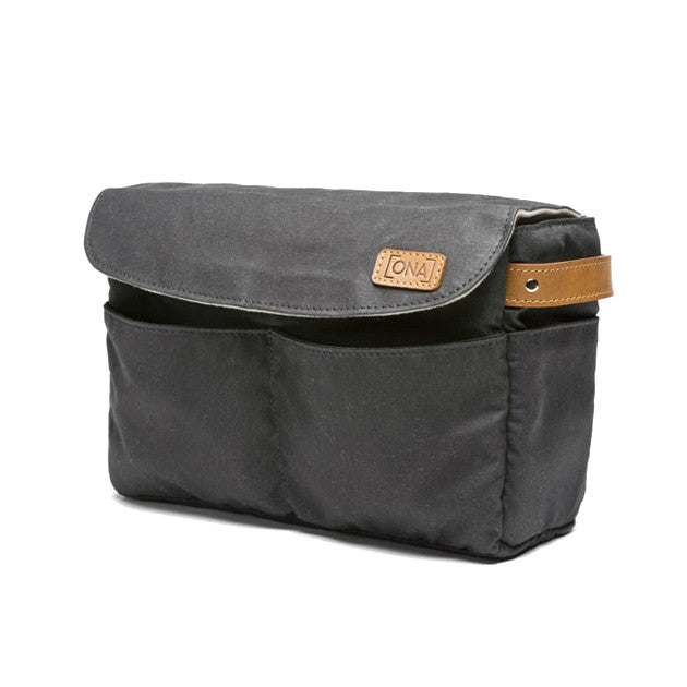 Ona Roma Camera Insert & Bag Organizer- Black