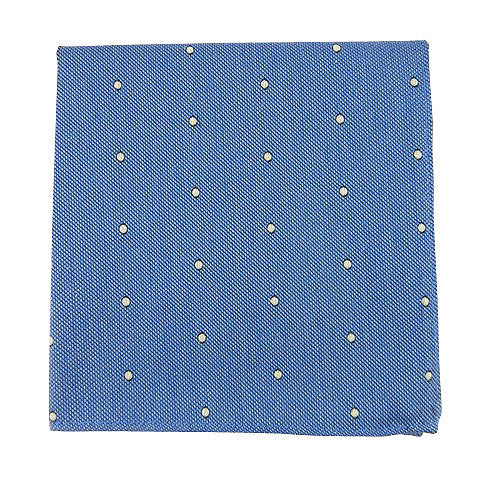 Sky Blue Dot Pocket Square