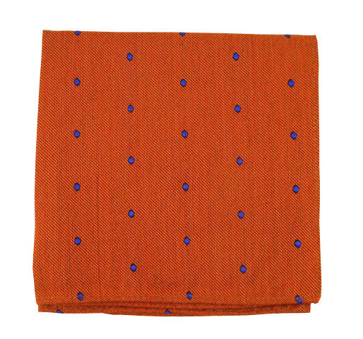 Burnt Orange Dot Pocket Square