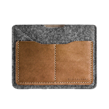 Old Calgary Passport Wallet - Anthracite
