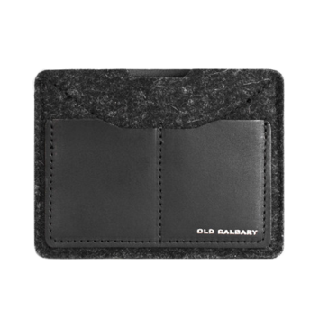 Old Calgary Passport Wallet - Carbon