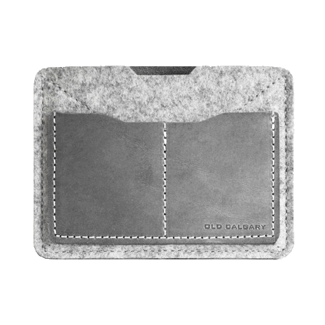Old Calgary Passport Wallet - Concrete
