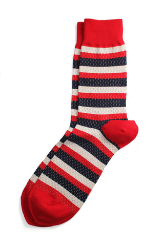 Richer Poorer - Rookie Red, White & Blue Socks