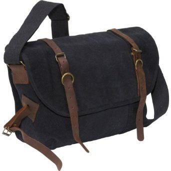 Rothco Vintage Canvas Explorer Shoulder Bag - Black