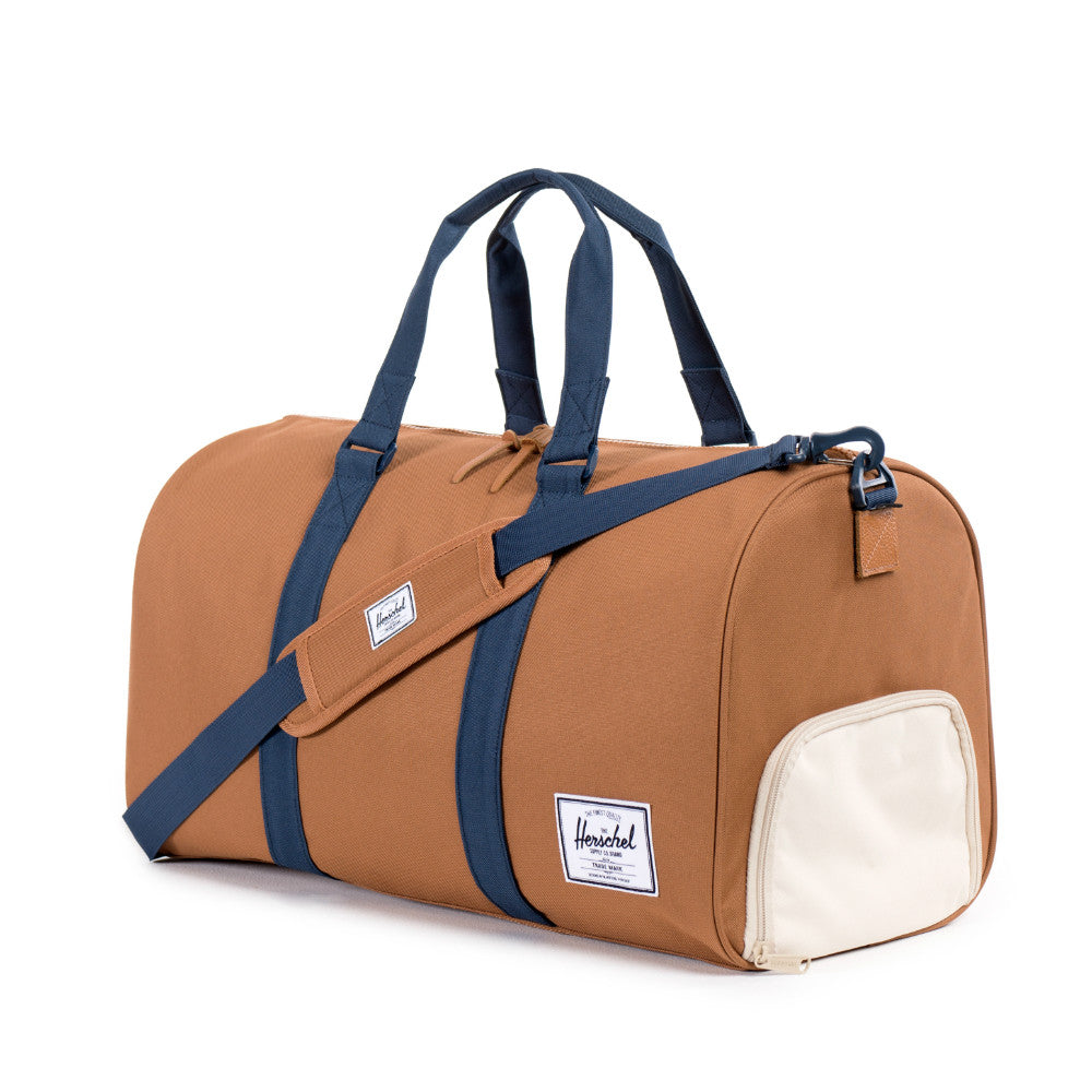 Herschel Supply Novel Duffel Bag - Caramel & Navy Side