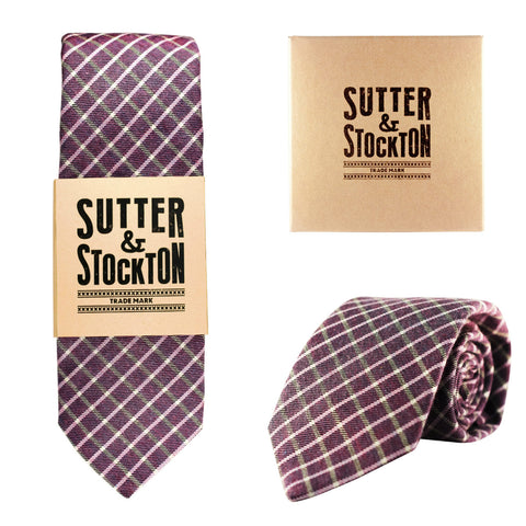 Sutter & Stockton Sansome Two-Tone Plaid Tie