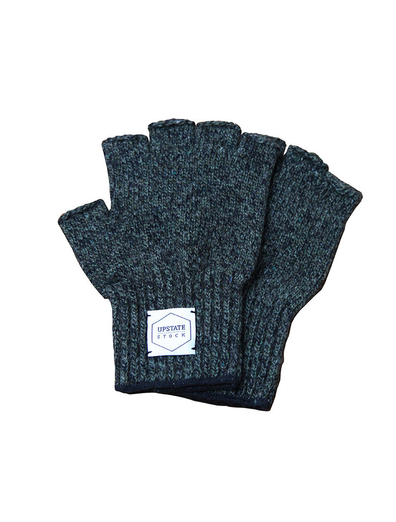 Upstate Stock Fingerless Ragg Wool Glove - Dark Melange
