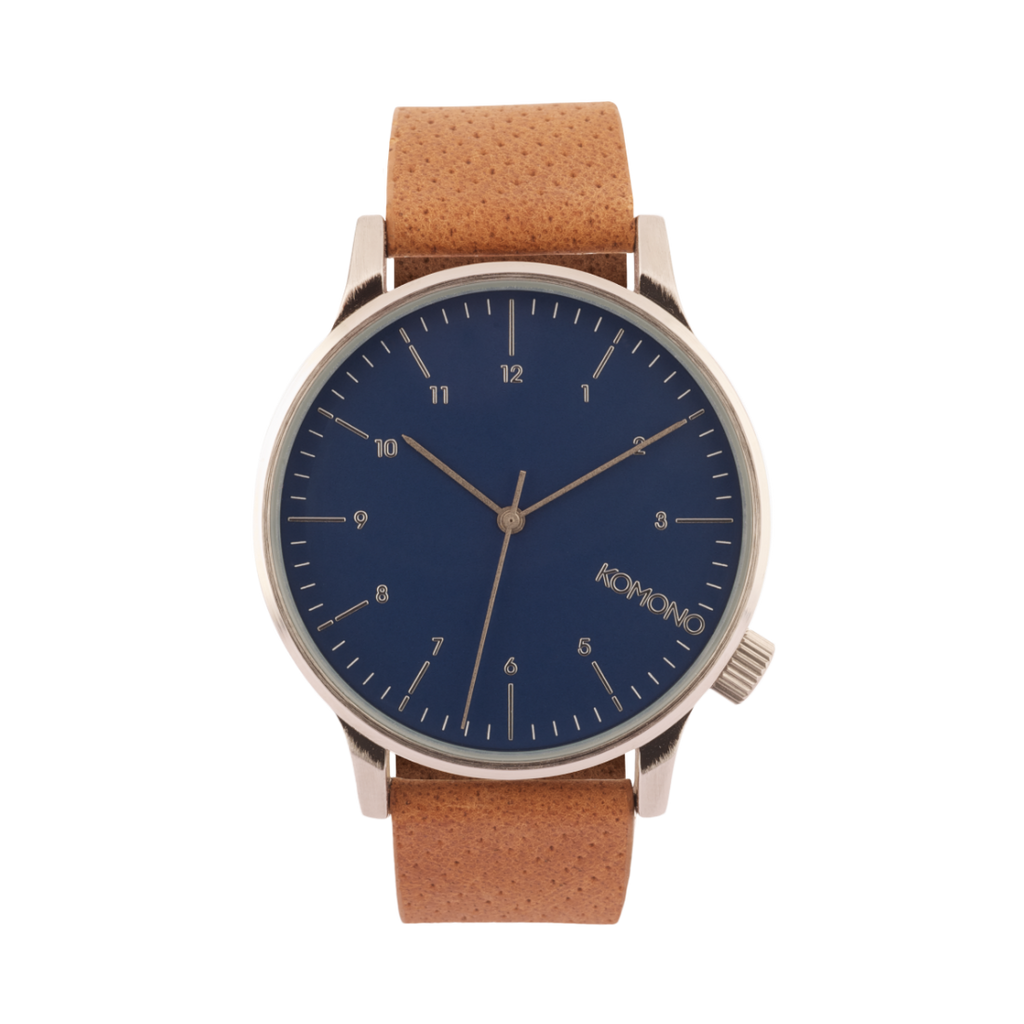Komono Winston Blue Cognac Watch