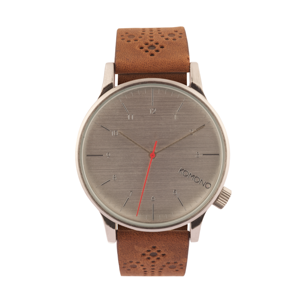 Komono Winston Brogue Walnut Watch